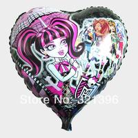 Hot sale free shipping helium balloon aluminum balloon monster aluminum foil heart fairy hot-selling