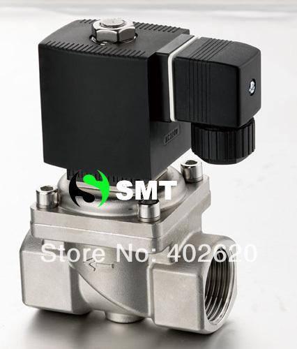 solenoid valve stainless Steel 1 1/2 inch steam 220Vac(China (Mainland))