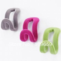 Free shipping Quality flocking hanger mini hook,slip-resistant hanger,50pcs/lot,wholesale