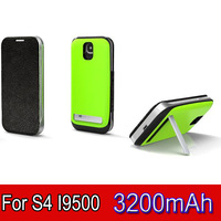 1pc 3200mAh Power Bank External Battery Charger Pack Case with wake up case + stand For Samsung Galaxy S4 i9500