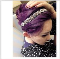 NEWS  free shipping Fshion handmade beads and crystal elastic headband hair accessories women hair band  hairband 1 PCS