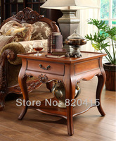 The traditional American hand carved wood side table Cocktail Coffee Table Living Room Furniture