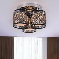 Ceiling lights  3 Light, Modern Creative Black Painting Metal