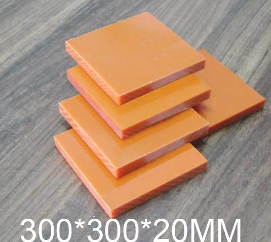 20mm thickness Bakelite sheet,Phenolic laminate,300*300*20MM Phenolic resin plate,Insulation board(China (Mainland))
