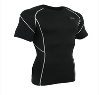 2014 Men's 33003 Sports T-shirt / Fitness Tight / Short Sleeves +Wholesale and Retail