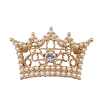 2014 new arrive wholesale high quility gold vintage jewelry party Crown brooch free shipping14331