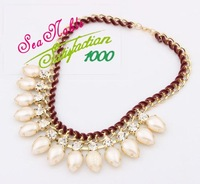 Factory Outlet European Fashion Exquisite Vintage Pearl Necklace Fashion Jewelry S123