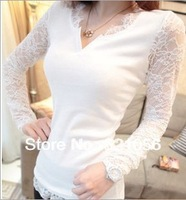 2014  lace T shirt , Spring & Summer basic shirt, fashion top free shipping