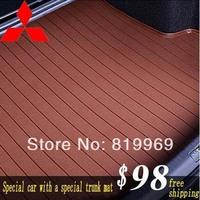 Free Shipping Mitsubishi motors trunk mat ASX/Pajero/Outlander/Galant/LANCER-EX/Lancer    Microfiber leather trunk mat