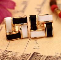 New 2014 Korean earrings multi color drip earring clip non pierced stud earrings square for women fashion jewelry 0