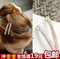 Hair accessory bling rhinestone double brief ccbt clip side fringe clip single