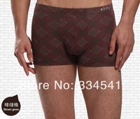 Wholesale Men's mid-waist pants antibacterial bamboo fiber Boxer Shorts 2pcs/lot