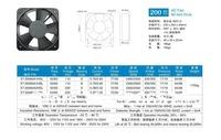 200*60mm BL AC FAN umidifier fan fan, electric welding machine, medical equipment fan