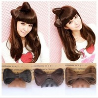 New women hair accessories,fashion children accessories,bow comb,6 colors headwear,3 pieces/lot