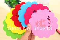 Coasters cup mat felt hollow insulating mat bowls mat placemat EMS free shipping