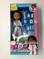 Pet doctor doll Set Doc McStuffins Toys Doll Set With Accessories  plastic girls' gift vinyl doll toys free shipping whole sale