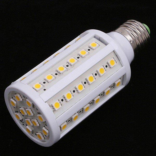 10pcs/lots E27 Led Corn Bulb 12W AC85-265V 1080LM 60*SMD5050 Warm White/White Lamp Free Shipping(China (Mainland))
