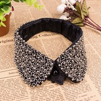 2014 fashion Metal false collar black punk personality funk Women detachable sequin collar necklace factory direct JL#212