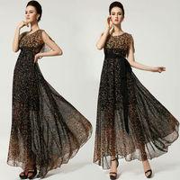 HOT Sale Fashion Sexy Women Cloak Long Ball Evening Formal Party Gown Chiffon Sun Beach irregular maxi long Dress
