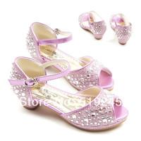 New 2014 Children/Kids Sandals for Girls Princess Girls Sandals High-heeled Latin Dance Summer Shoes for Girls Free ShippingA138