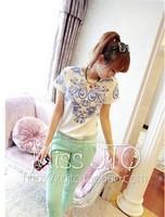 New 2014 Women Blouse Shirt All-match Personality Vintage National Trend Porcelain Print Pattern Chiffon Blusas Femininas