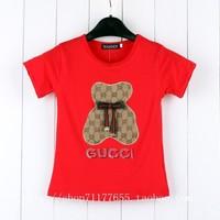 Handsome Gril's short sleeve Letter/solid color t-shirt,kids shirt,Popular children summer clothes,boy party shirt