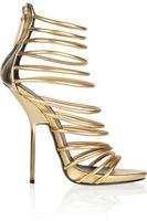 Hot Sale Elegant Gold Gladiators Cut-out Ankle Strap High Heel Sandal For Women Prom Shoes Summer Wedding Dresses Shoes