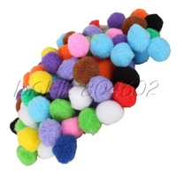 100Pcs 1.8cm Colorful Pompon Balls Craft Handmade DIY Bracelet Accessories