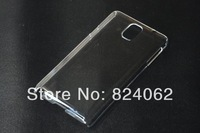300pcs/lot For Samsung Galaxy Note 3 N9000 Material Case Transparent Clear Crystal Hard Plastic Mobile Phone Cases