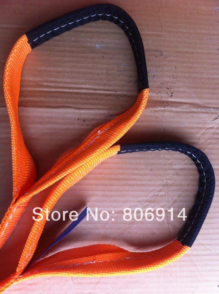 Free shipping 20pcs/lot 3T x 6M eye-eye high tensile polyester flat lifting sling lifting strap webbing sling(China (Mainland))