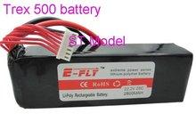 rc bateria lipo para trex 500 22.2v 2800 25c 6s1p frete grátis aceitar paypal(China (Mainland))