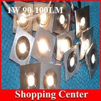 Freeshipping Hot Sale 10Pcs/Lot 1W recessed LED ceiling down light Warmwhite ColdWhite led lamp home lighting spot light