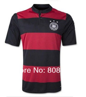 Germany Red Black jersey Germany 2014 world cup Away Red Black soccer jersey top Thailand Quality 3A+++ Football uniforms shirts
