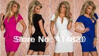 Good quality women fashion U-neck OL Peplum Dress party Bodycon Dresses evening elegant luxury Lady Work Dress Plus Size