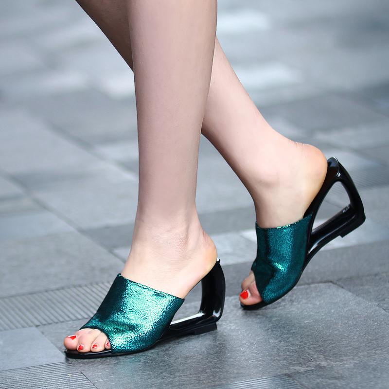 Fantastic Platform Flip Flops Shoes Women Wedges Sandals Beach Slippers Wear