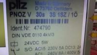 1pcs/lot  Pilz PNOZV 24vdc (474790) relay