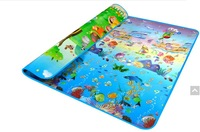 New StyleDoulble-Site Baby Play Mat 2*1.8 Ocean And Zoo Child Beach Mat Picnic Carpet Baby Crawling Mat