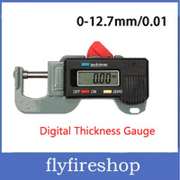 Cheap Digital Thickness Gauge Meter Tester Micrometer 0 to 12.7mm Free shipping