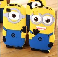 Brand 3D Cute Cartoon Despicable Me Minions Soft Rubber Cases Cover For Xiaomi 2 2S Mi2 Mi2s 3 M3 Mi3 Red Rice Shell Skin XM01