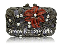 new arrival gorgeous fashion wholesale women's swarovski crystal clutch bag luxury clutches handbag for lady party