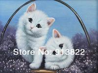 Oil paintings Realistic Animals Cats Fashion Art no Frame Home Decor Handmade artworks