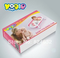 Free shipping new arrival YOGLEbaby  baby folding bathtub infant bathtub