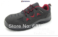Free shipping red line safety shoes men work shoes for men steel toe cap covering protective shoes