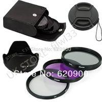 Lens cap +Lens Hood+58mm CPL UV filter kit set for Canon EOS 500D/Rebel T1i 450D 500D 550D 600D 650D 700D