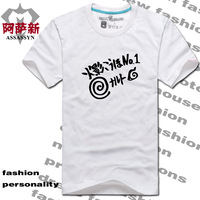 Hot-selling summer men's clothing t-shirt cartoon clothes cotton short-sleeve T-shirt 100%