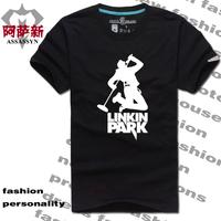 Male t-shirt male short-sleeve T-shirt linkin park o-neck summer t shirt