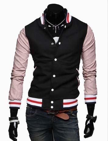 Spring 2014 New Arrival Baseball Jacket Men Fleece Warm Coat Men's Clothing Thick Outwear Black 20(China (Mainland))