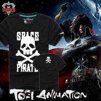 2014 summer male short-sleeve pirate t-shirt japan