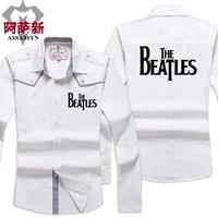 Men's clothing autumn beatles 2013 male cardigan long-sleeve shirt
