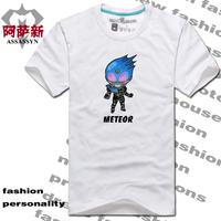 Mask fourze meteor super man short-sleeve T-shirt o-neck clothes